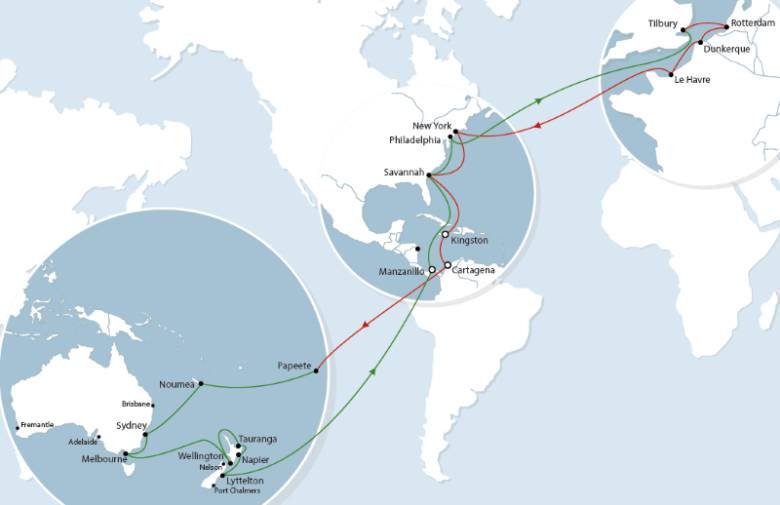 CMA CGM has announced its service upgrade in New Zealand by adding a new call in Wellington on its Panama Direct Line (PAD) service starting November 23rd. The PAD service offers a connection between Europe, the US East coast, Australia and New Zealand via the Panama Canal.