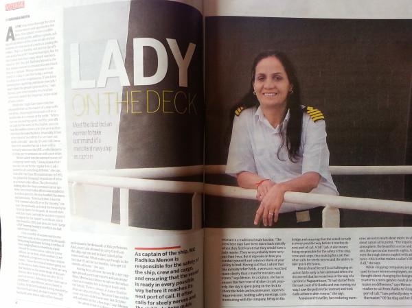 lady on deck